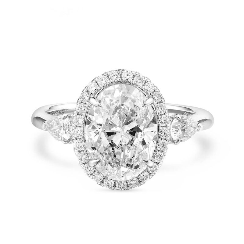White Diamond Ring, 3.53 Ct. TW, Oval shape, GIA Certified, 5151582481