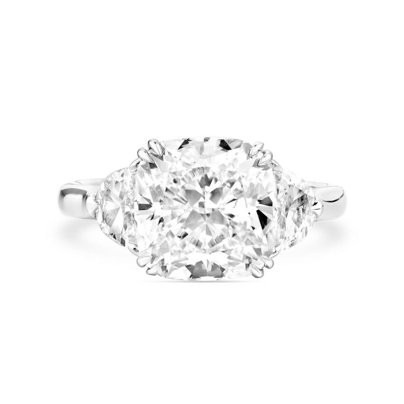 White Diamond Ring, 5.54 Ct. TW, Cushion shape, GIA Certified, 5181342216