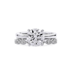 White Diamond Ring, 2.37 Ct. (2.51 Ct. TW), Round shape, GIA Certified, 2296897531