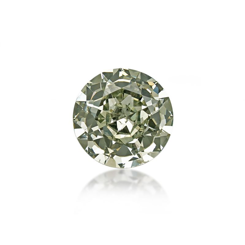 1.54 Carat, Fancy Gray Yellowish Green Diamond, Round shape, VS2 Clarity, GIA Certified, 16892891