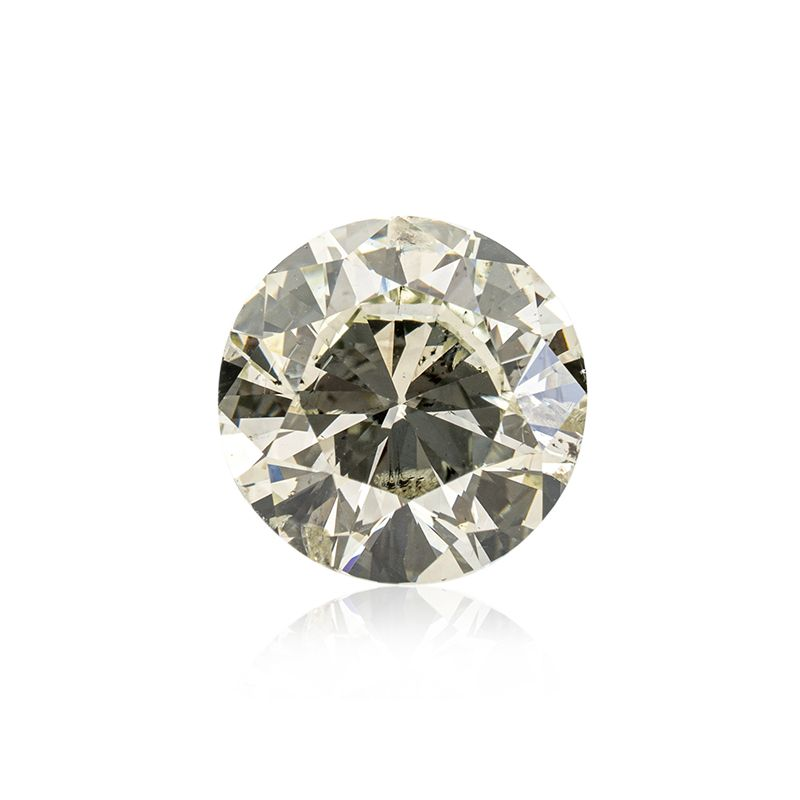 3.01 Carat, Fancy Light Grayish Yellowish Green Diamond, Round shape, I1 Clarity, GIA Certified, 16229535
