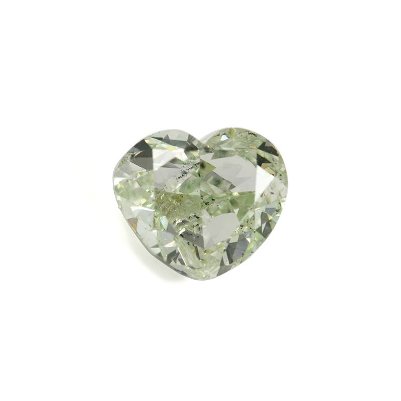 0.90 Carat, Fancy Light Yellowish Green Diamond, Heart shape, GIA Certified, 1176662011