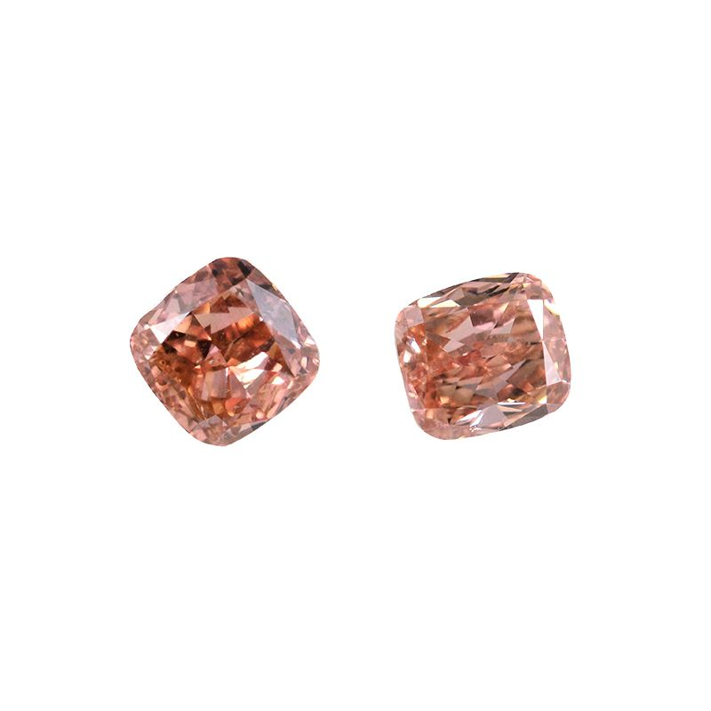 0.72 Carat, Fancy Intense Orangy Pink Diamond, Cushion shape, SI2 Clarity, GIA Certified, 6173506264