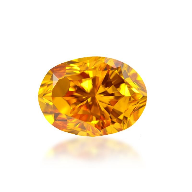 3.01 Carat, Fancy Intense Orange Diamond, Oval shape, VVS2 Clarity, GIA Certified, 1162184880