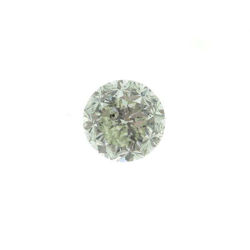 0.94 Carat, Fancy Light Yellowish Green Diamond, Round shape, GIA Certified, 2165608259