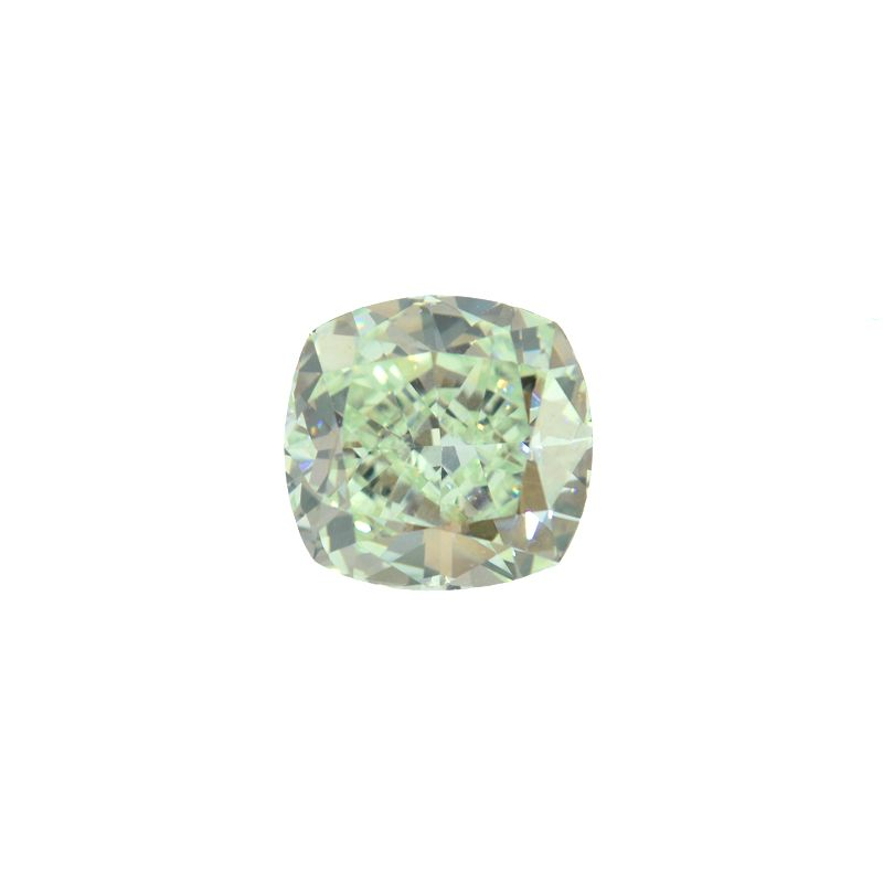 0.89 Carat, Fancy Yellowish Green Diamond, Cushion shape, VS2 Clarity, GIA Certified, 5161206241