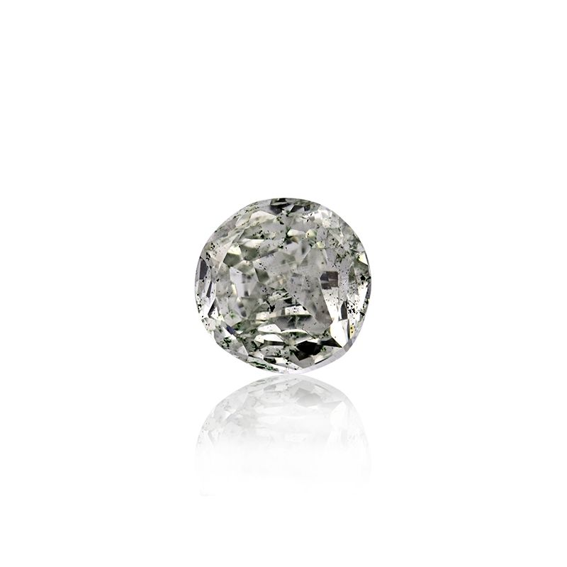 1.04 Carat, Fancy Grayish Green Diamond, Round Modified shape, SI1 Clarity, GIA Certified, 5171587974