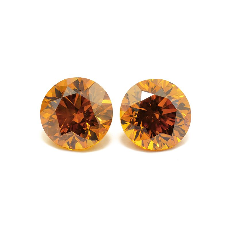 1.00 Carat, Fancy Deep Yellowish Orange Diamond, Round Modified shape, I1 Clarity, GIA Certified, 1182874053