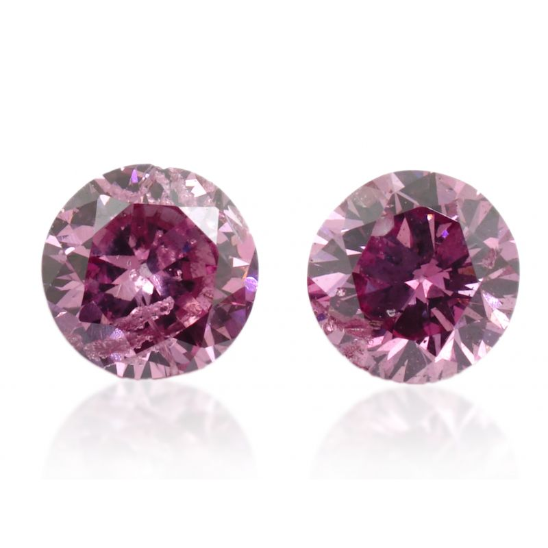 0.12 Carat, Fancy Vivid Purplish Pink Diamond, Round shape, GIA Certified, 5191145474