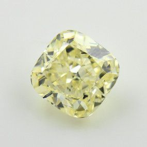3.41 Carat, Fancy Light Yellow Diamond, Radiant shape, VS1 Clarity, GIA Certified, 2195176959