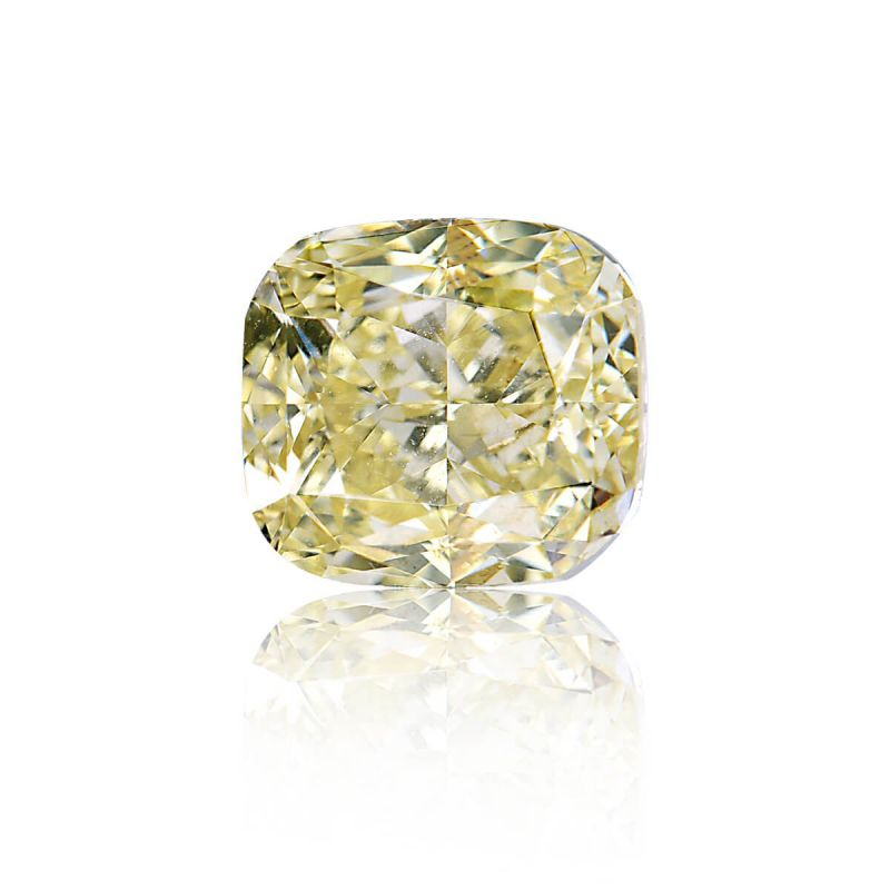 3.05 Carat, Fancy Yellow Diamond, Cushion shape, VS2 Clarity, GIA Certified, 5246908950