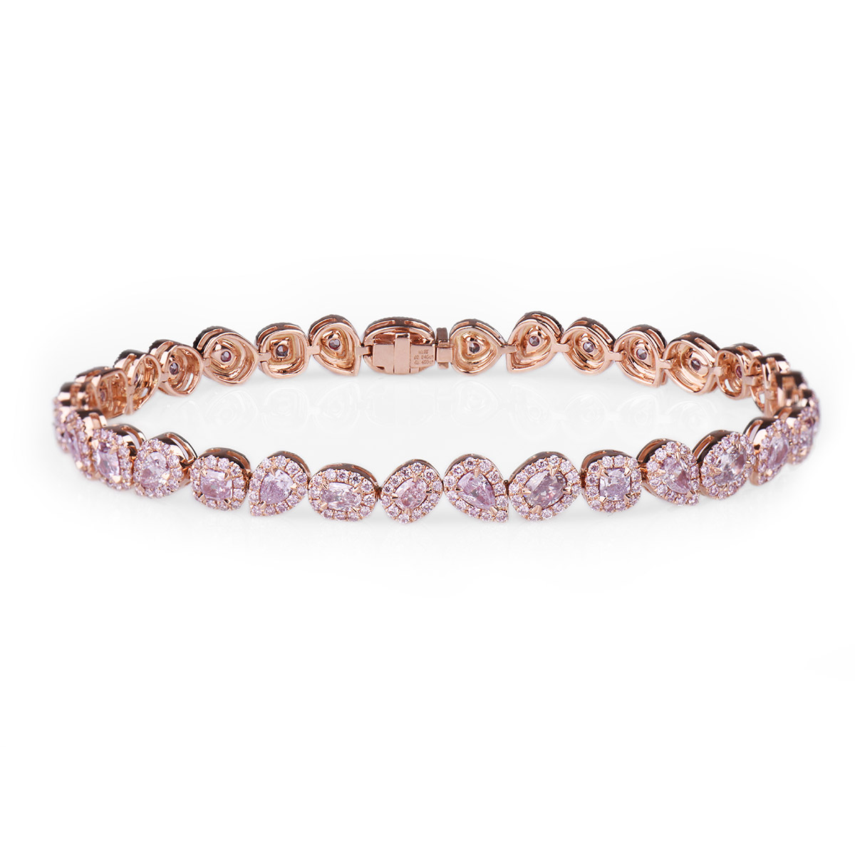 shape mix bracelet diamond pink carat fancy