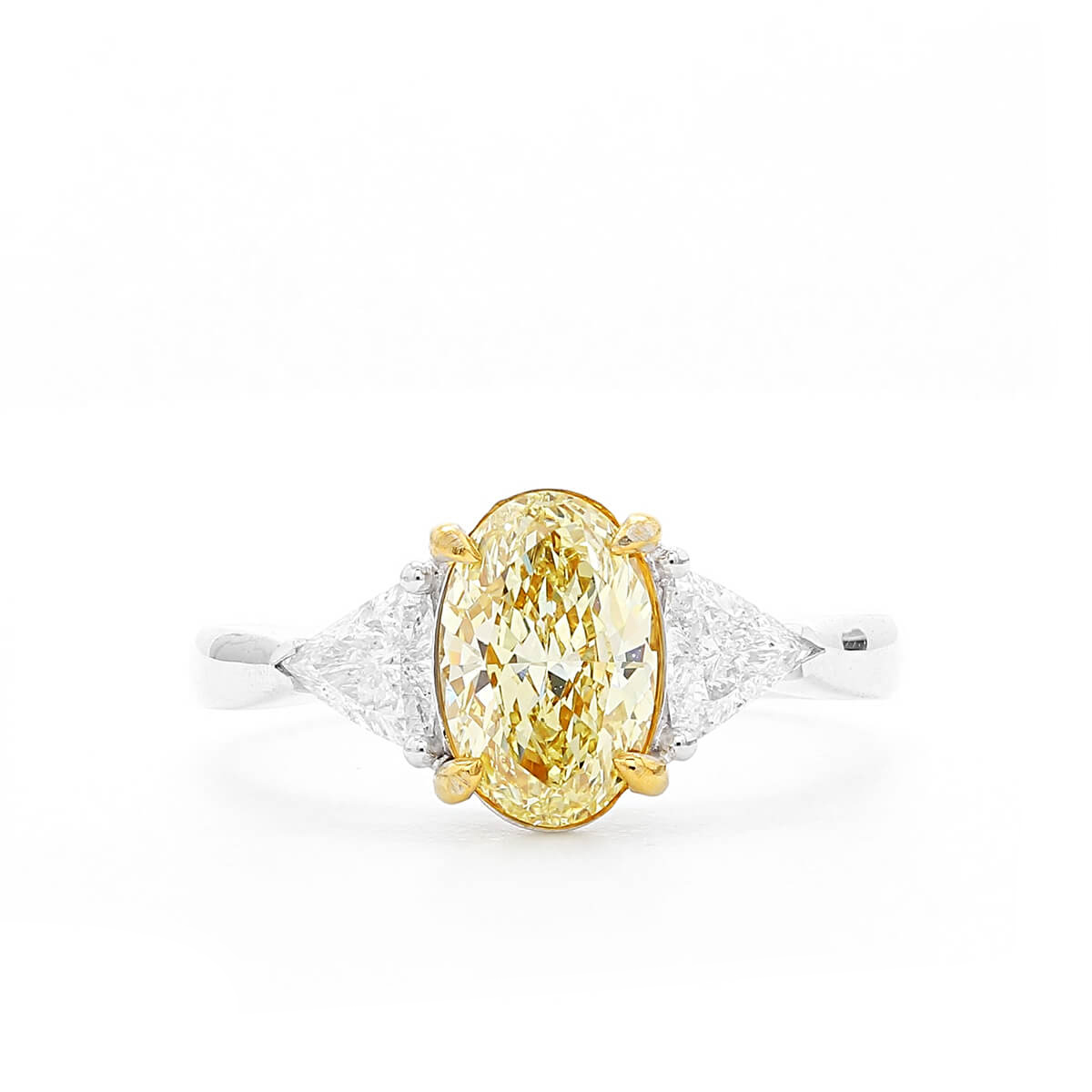 3bcf131bf25ae0 Details about 1.70 Ct Gorgeous Fancy Yellow Diamond Ring Oval Cut Natural  18K White Gold GIA