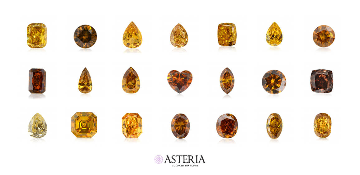 """Pure Fancy Vivid orange diamonds, which are extremely rare, are also referred to as """"pumpkin diamonds"""""""