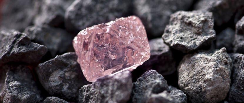 raw fancy natural loose pink diamond