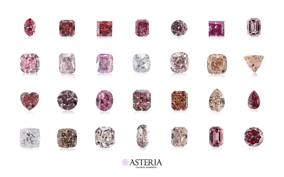 line 1: fancy vivid purplish pink diamond, fancy intense pink diamond, fancy intense pink diamond, fancy vivid purplish pink diamond, fancy intense pink diamonda, fancy vivid purplish pink diamond line 2: fancy intense pink diamond, fancy brownish pink diamond, fancy pink purple diamond, light pink diamond, fancy brownish pink diamond, fancy orangy pink diamond, fancy light orangy pink diamond line 3: fancy intense pink diamond, fancy purplish pink diamond, fancy vivid purple pink diamond, fancy intense purplish pink diamond, fancy intense orangy pink diamond, fancy brown pink diamond, fancy vivid pink diamond line 4: very light pink diamond, fancy brown pink diamond, very light pink diamond, fancy brown pink diamond, fancy orangy pink diamond, fancy intense purplish pink diamond, fancy vivid purplish pink diamond