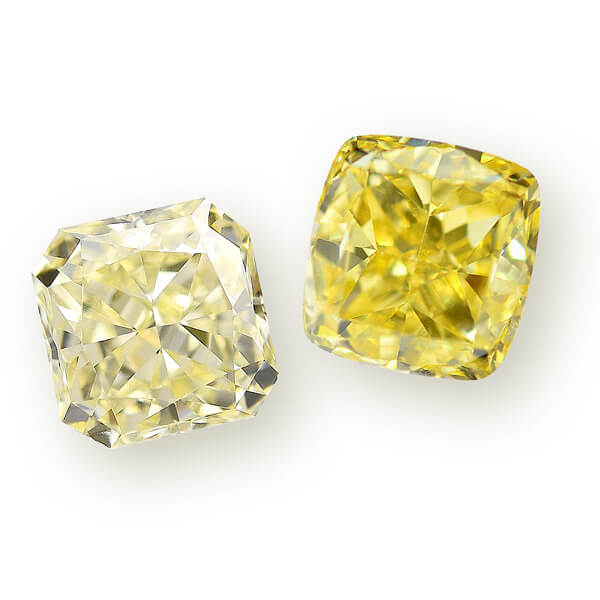 light yellow diamond & intense yellow diamond