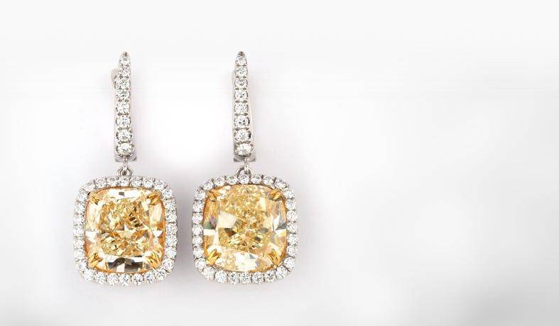 Colored Diamonds Earrings