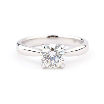 Image of white diamond solitaire engagement ring